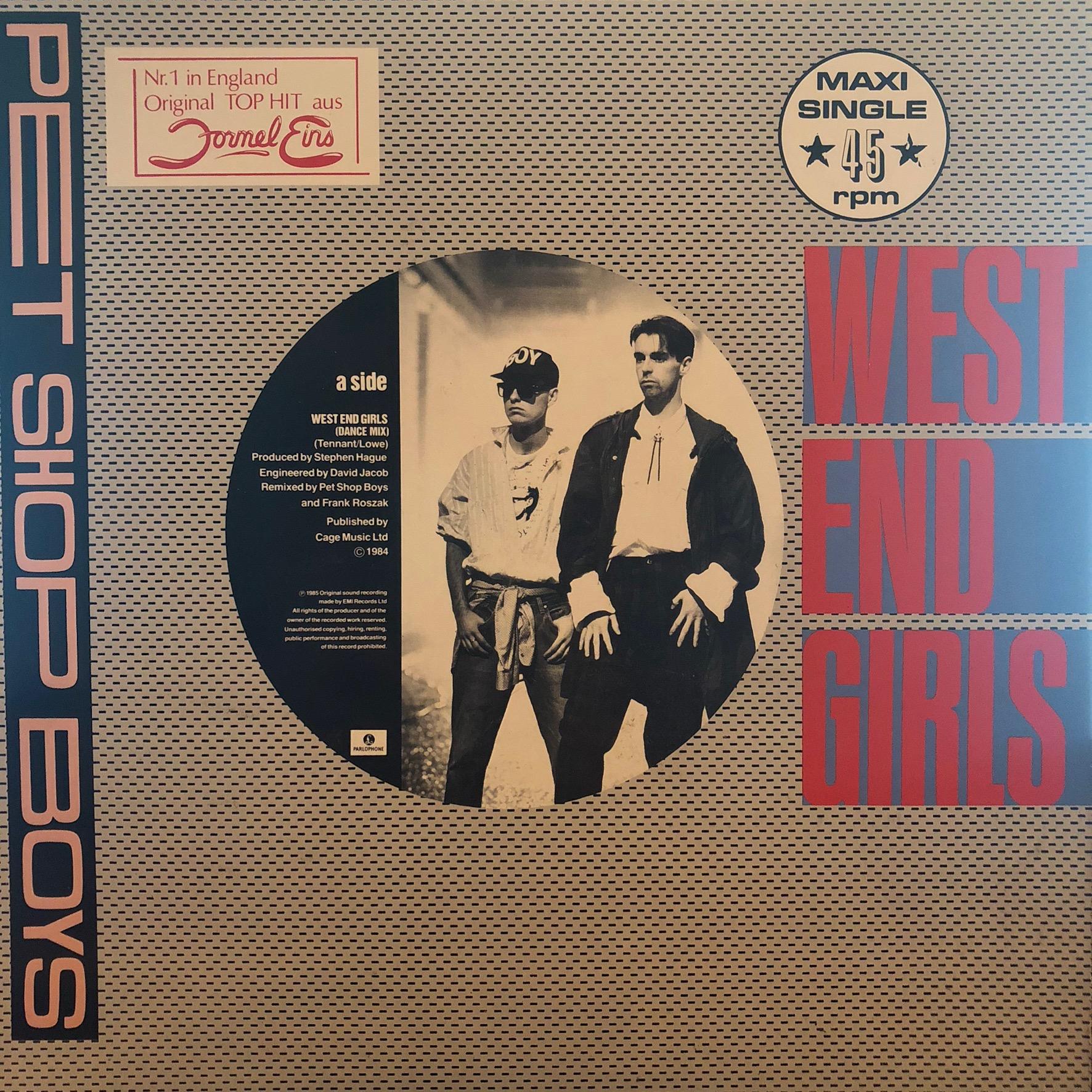 Pet Shop Boys - West End Girls - Front Cover