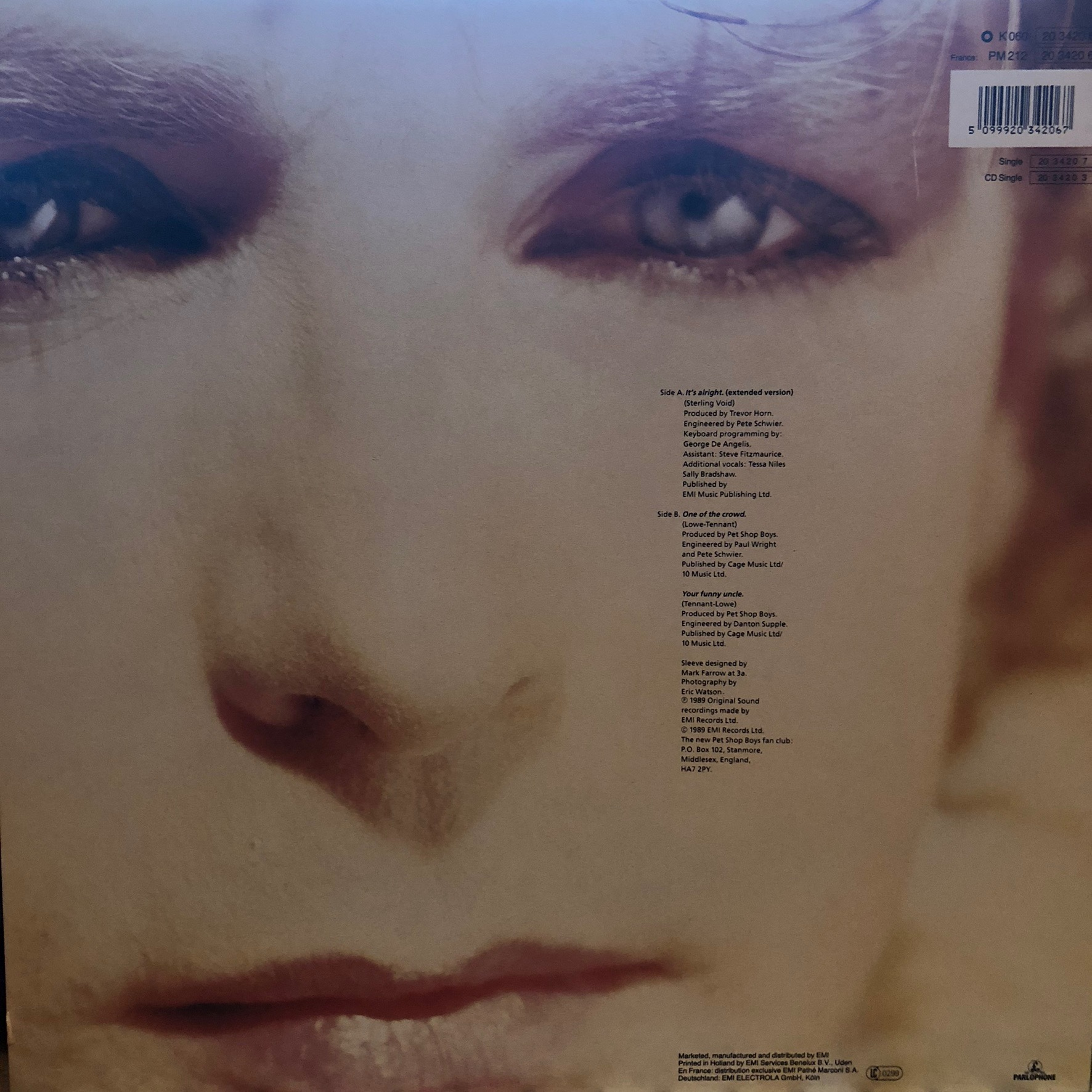 Pet Shop Boys - It's alright - Back Cover