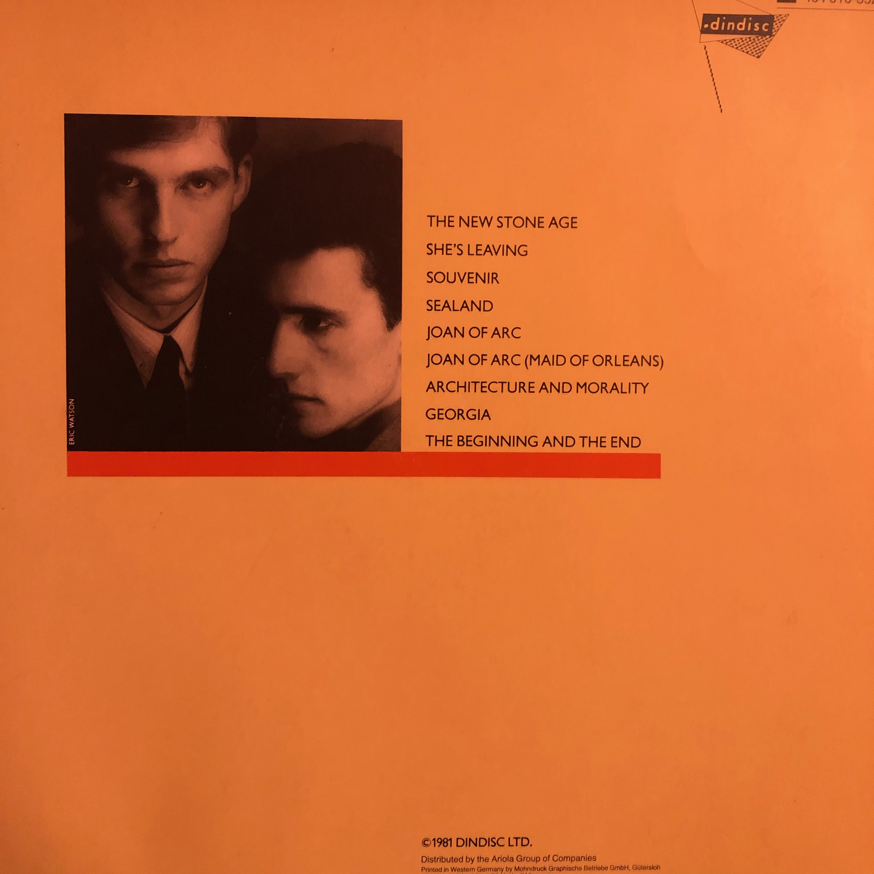 OMD - Architecture and Morality - Back Cover