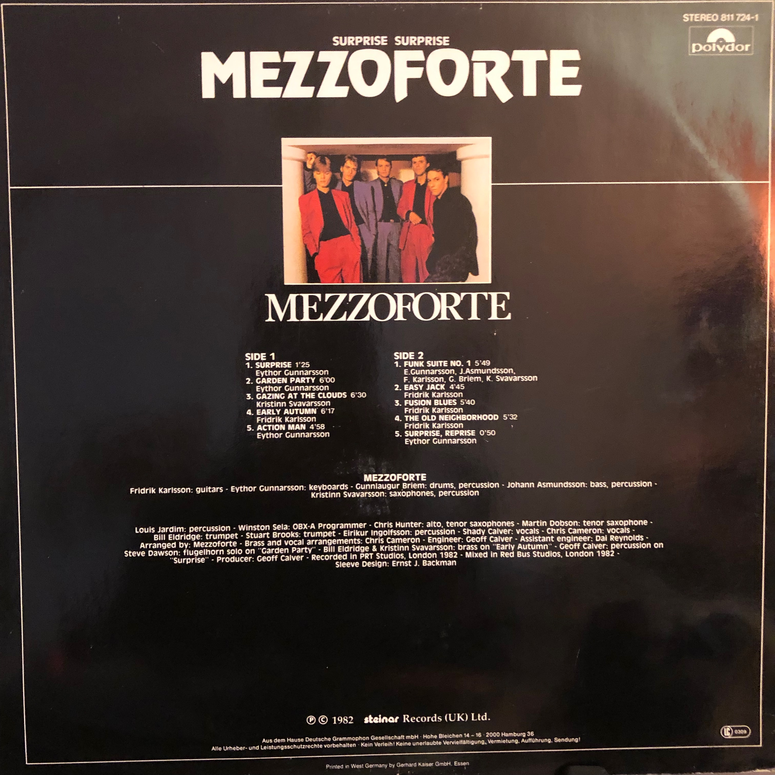Mezzoforte - Surprise Surprise - Back Cover